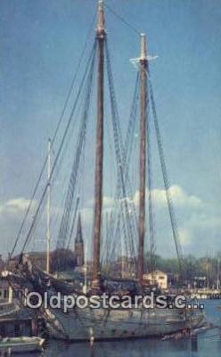 shi020498 - Annapolis Harbor, Annapolis, Maryland, MD USA Sail Boat Postcard Post Card