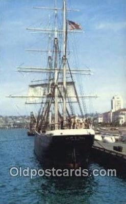 shi020507 - The Star Of India, San Diego, California, CA USA Sail Boat Postcard Post Card