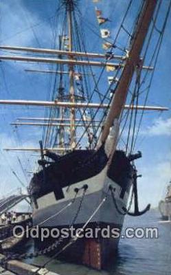 shi020514 - Balclutha, Cape Horn, San Francisco, California, CA USA Sail Boat Postcard Post Card