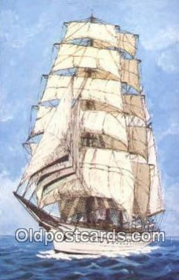 shi020521 - Three Masted Bark Training Ship, Mircea, Romania Sail Boat Postcard Post Card