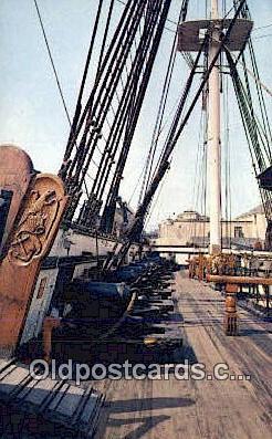 shi020542 - USS Constitution, Charlestown, Massachusetts, MA USA Sail Boat Postcard Post Card