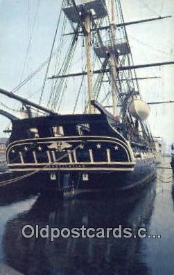 shi020552 - USS Constitution, Charlestown, Massachusetts, MA USA Sail Boat Postcard Post Card