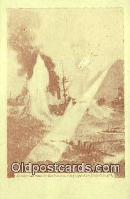 shi020556 - Attaaue De Nuit De Destroyers, Naufrage D'un Dreadnaught Postcard Post Card