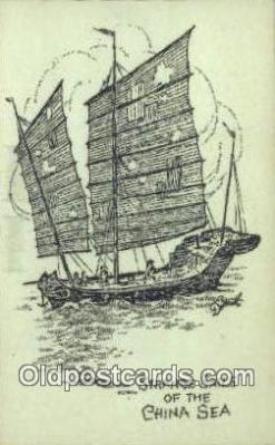 shi020562 - Strange Sails Of The China Sea Sail Boat Postcard Post Card