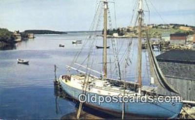 shi020626 - Fishing Schooner At Hackets Cove, Nova Scotia, Canada Sail Boat Postcard Post Card