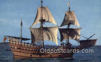 shi020672 - The Mayflower II, Plymouth, Massachusetts, MA USA Sail Boat Postcard Post Card
