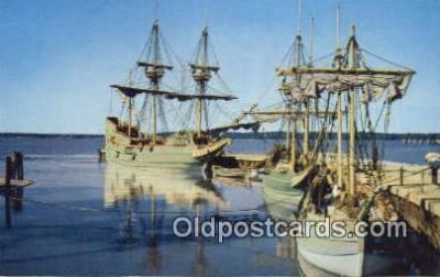 shi020679 - The Three Ships, Jamestown, Virginia, VA USA Sail Boat Postcard Post Card