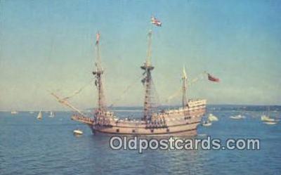 shi020682 - The Mayflower II, Plymouth, Massachusetts, MA USA Sail Boat Postcard Post Card