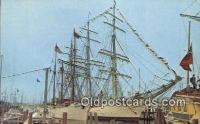 shi020689 - Operation Sail, Newport, Rhode Island, RI USA Sail Boat Postcard Post Card
