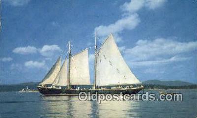 shi020698 - Windjammer Off The Coast Of Maine, ME USA Sail Boat Postcard Post Card