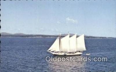 shi020701 - Victory Chimes, Maine, ME USA Sail Boat Postcard Post Card