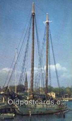 shi020707 - Annapolis Harbor, Annapolis, Maryland, MD USA Sail Boat Postcard Post Card