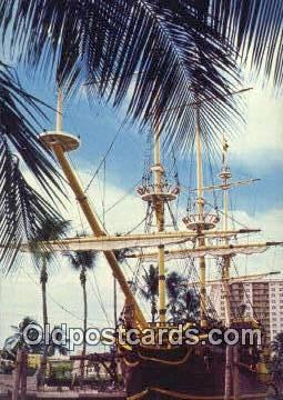 shi020725 - The Spanish Treasure, Golden Doubloon Sail Boat Postcard Post Card