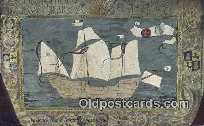 shi020746 - Santa Maria  Painting By Ross Turner Sail Boat Postcard Post Card