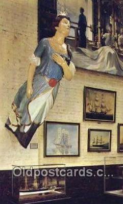 shi020750 - Figurehead From The Iron Ship Calbuco, Glasgow, Scotland 1885 Sail Boat Postcard Post Card