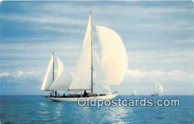 shi020753 - Smooth Sailing Color Photo by H W Hannau Ship Postcard Post Card