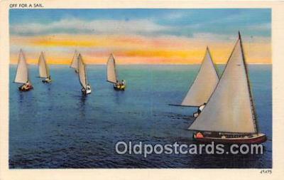 shi020761 - Off For a Sail  Ship Postcard Post Card