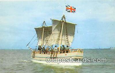 shi020766 - Discovery II Jamestown May 13, 1607 Ship Postcard Post Card