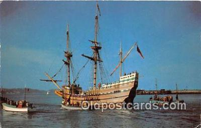 shi020768 - Mayflower II Brixham, England Ship Postcard Post Card