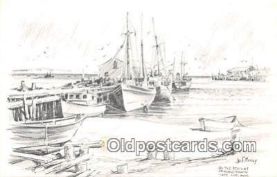 shi020783 - Beach, Provincetown, Cape Cod Mass USA Jas F Murray Ship Postcard Post Card