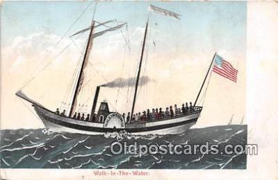 shi020789 - Walk in the Water  Ship Postcard Post Card
