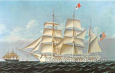 shi020791 - Whaleship Wanderer, 1878 Mattapoisett, Massachusetts USA Ship Postcard Post Card
