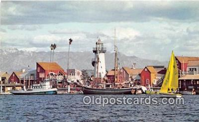 shi020792 - Fisherman's Village Marina Del Rey, California USA Ship Postcard Post Card
