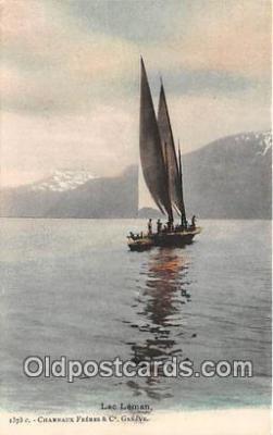 shi020795 - Lac Leman Charnaux Freres & Co Geneve Ship Postcard Post Card