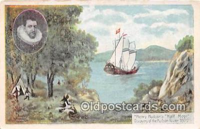 shi020802 - Henry Hudson's Half Moon Hudson River 1600 Ship Postcard Post Card