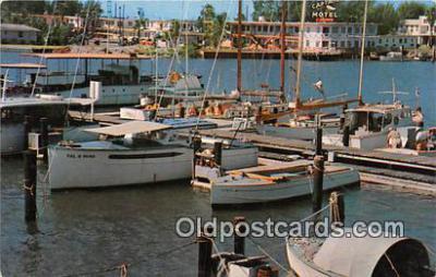 shi020807 - Boats Clearwater Marina Ship Postcard Post Card