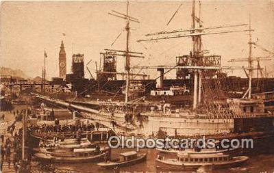 shi020823 - Water Front San Francisco, CA USA Ship Postcard Post Card