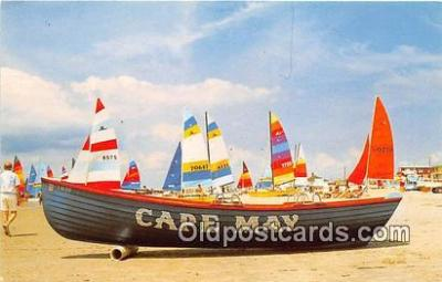 shi020829 - Annual Hobie Cat Regatta Cape May, NJ USA Ship Postcard Post Card