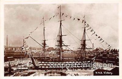 shi020832 - HMS Victory  Ship Postcard Post Card