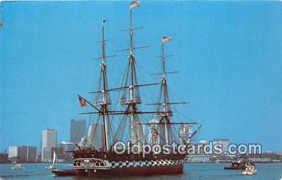 shi020838 - USS Constitution Old Ironsides Boston Naval Shipyard, Charlestown, Mass Ship Postcard Post Card