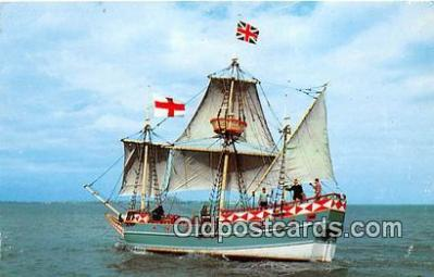 shi020850 - Godspeed II Jamestown May 13, 1607 Ship Postcard Post Card