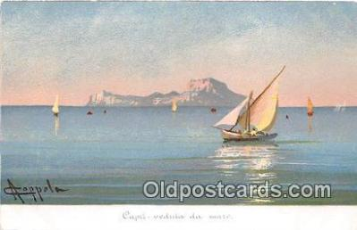 shi020855 - Capri Veduta Da Mare  Ship Postcard Post Card