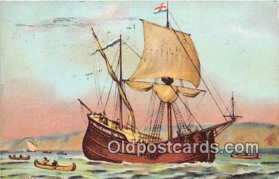 shi020856 - Half Moon New York Harbor Ship Postcard Post Card