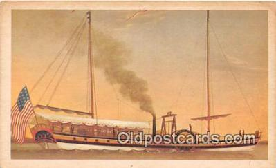 shi020858 - non postcard backing - Phoenix Built in Hoboken, NJ 1808 Ship Postcard Post Card