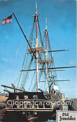 shi020862 - USS Constitution Old Ironsides Navy Yard, Boston, Mass USA Ship Postcard Post Card