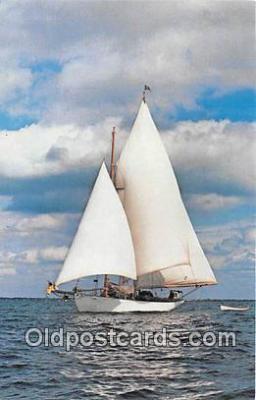 shi020876 - Brilliant Under Sail Mariner Program of Mystic Seaport Ship Postcard Post Card