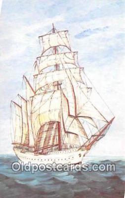 shi020892 - Esmeralda Chile 305 Four Masted Barkentine Training Ship Ship Postcard Post Card