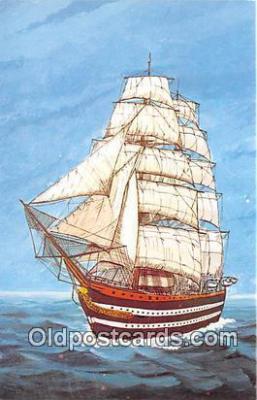 shi020894 - Amerigo Vespucci Italy 330 Full Rigged Training Ship Ship Postcard Post Card