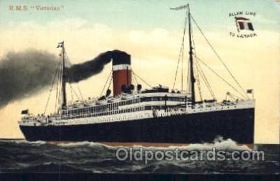 shi022004 - R.M.S. Victorian Allan Line, Liner Ship Ships Postcard Postcards