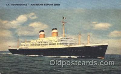 shi023004 - SS Independence American Export Line, Lines Ship Ships Postcard Postcards