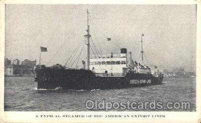 shi023015 - A Typical Steamer, American Export Line, Lines Ship Ships Postcard Postcards