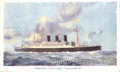 shi024003 - S.S. Caledonia Anchor - Donaldson Line, Lines Ship Ships Postcard Postcards