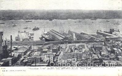 shi024014 - American Line,Brooklyn,New York,USA Anchor - Donaldson Line, Lines Ship Ships Postcard Postcards