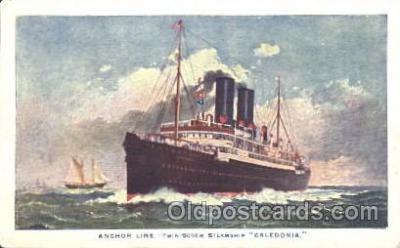 shi024020 - T.S.S. Caledonia Anchor - Donaldson Line, Lines Ship Ships Postcard Postcards