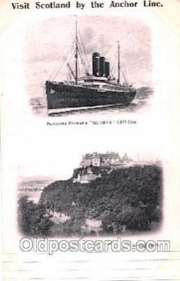 shi024022 - T.S.S. Columbia Anchor - Donaldson Line, Lines Ship Ships Postcard Postcards