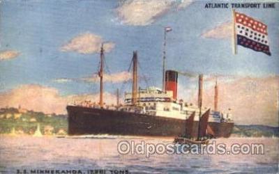 shi025009 - S.S. Minnekahda Atlantic Transport Line, Lines, Ship Ships Postcard Postcards